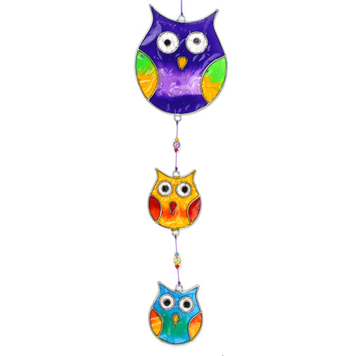 Three Owl Suncatcher