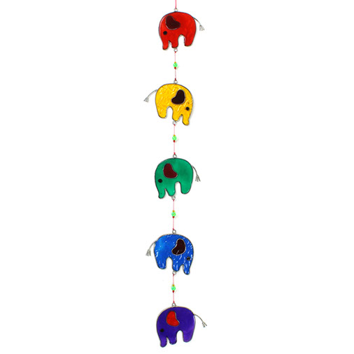 Multicoloured Elephant Suncatcher
