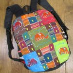 Patchwork Rucksack with Elephants
