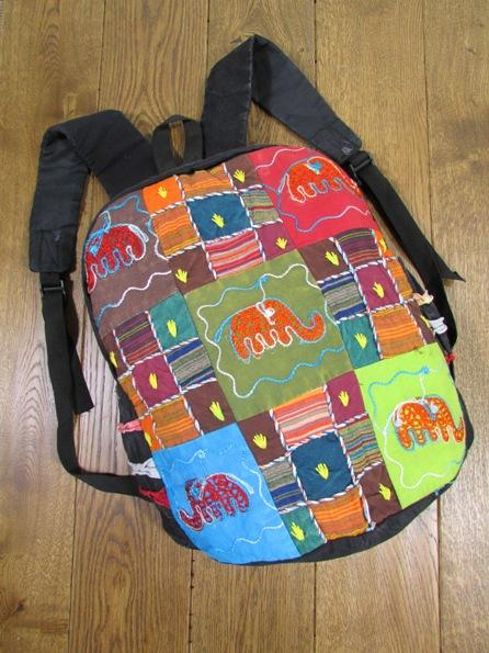 Patchwork Rucksack with Elephants