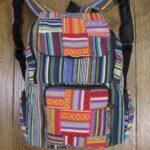 Striped Gheri Cotton Patchwork Rucksack