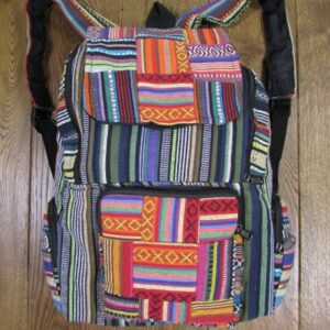 Striped Gheri Cotton Patchwork Rucksack
