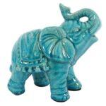 Blue Ceramic Elephant 2