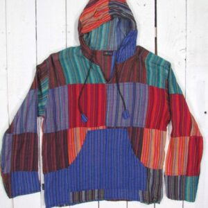 Patchwork Hooded Top