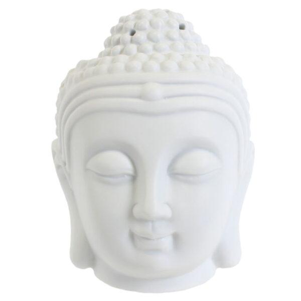 Matte White Buddha Head