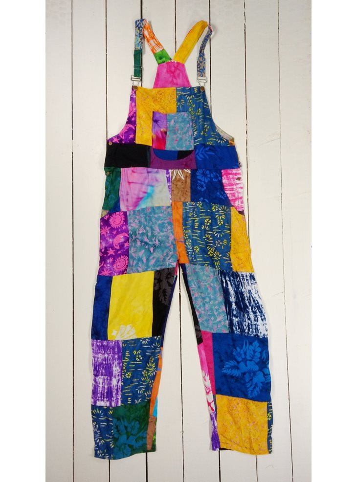 Bright Patchwork Dungarees