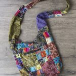 Embroidered Patchwork Shoulder Bag