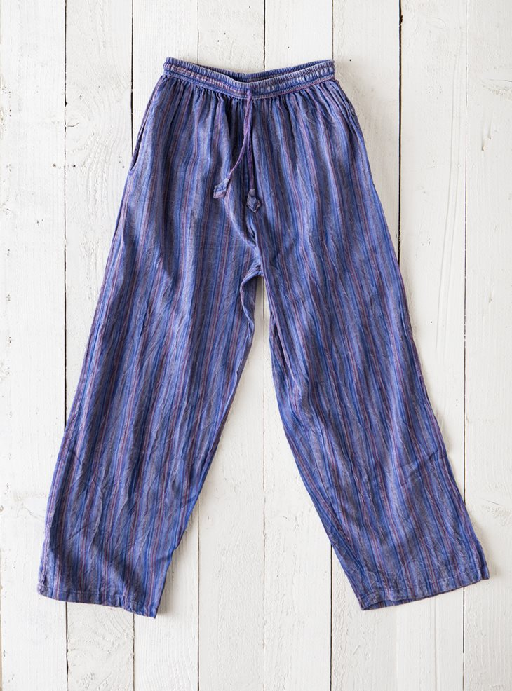Gringo Stonewash Striped Trousers
