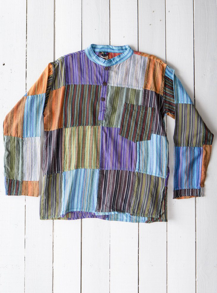 Gringo Striped Patchwork Shirt